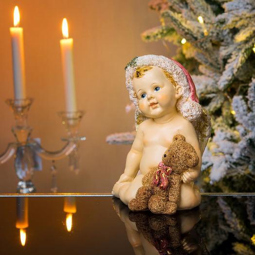 Ангел новогодний с мишкой