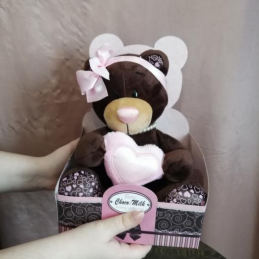 Мягкий мишка,, Choco Milk: букеты цветов на заказ Flowwow
