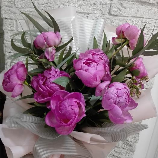Шикарные пионы для Влюблённых: букеты цветов на заказ Flowwow