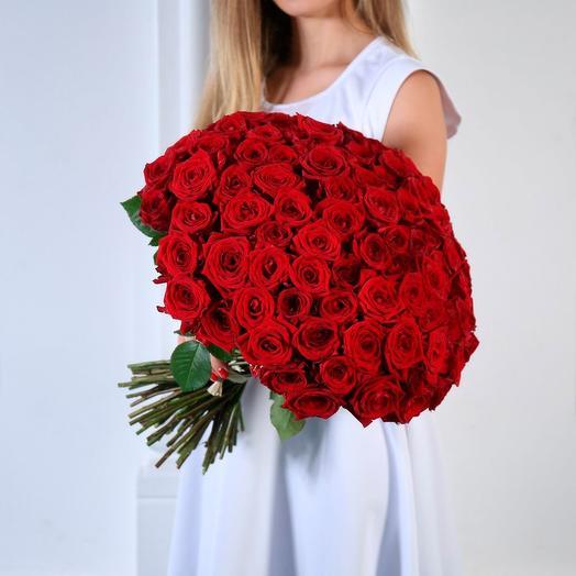 Букет из 101 розы Ред Наоми (70 см)