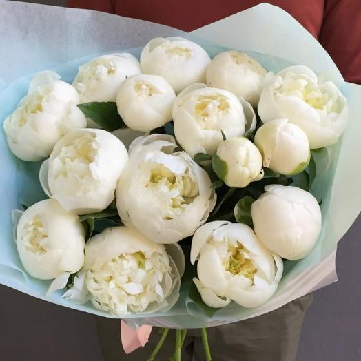 Пион белый лебедь: букеты цветов на заказ Flowwow