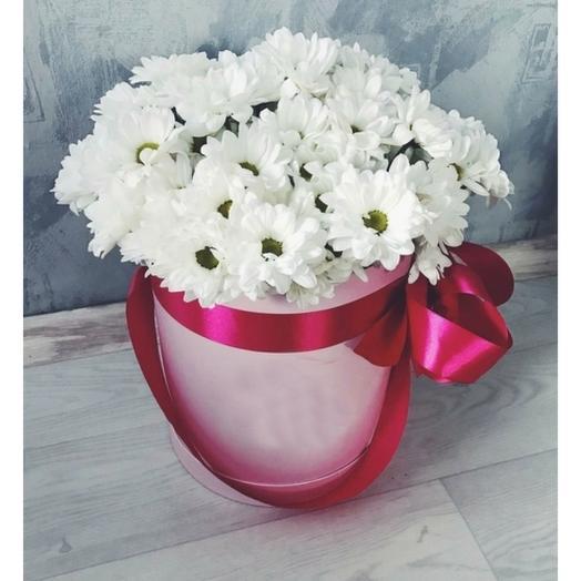 Цветы в коробке Ромашки белые