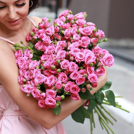 "Bouquet of bush roses ""Fairy Tenderness"" Hit"