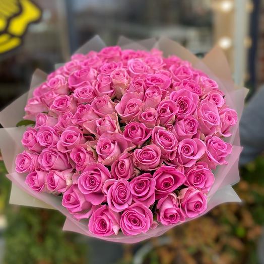 Монобукет из 75 роз