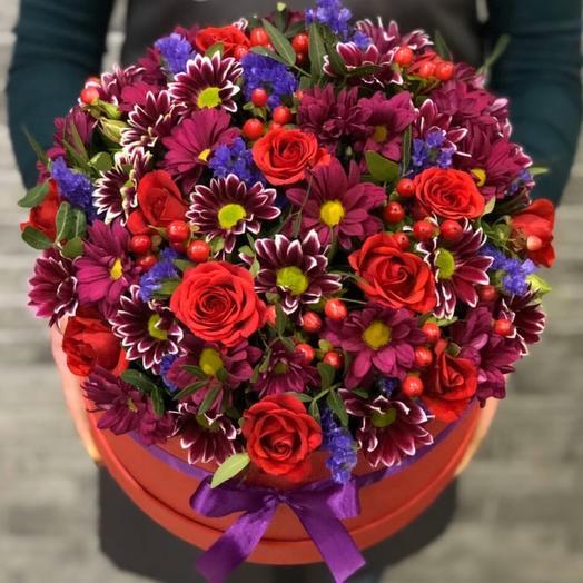 Цветы в коробке 0076534