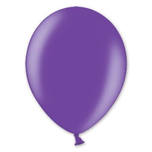 """Шар с гелием 12""""/30 см фиолетовый металлик"""