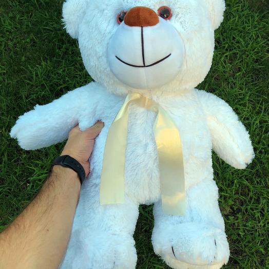 Плюшевий ведмедик 70 см білий