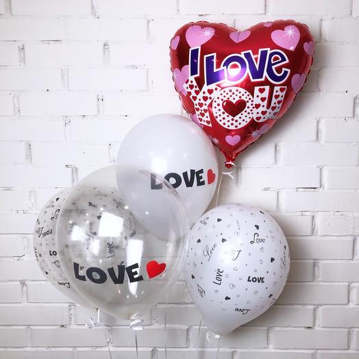 Сет воздушных шаров Love