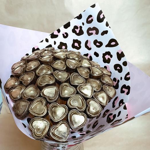 Букет Сердец из Бельгийского шоколада