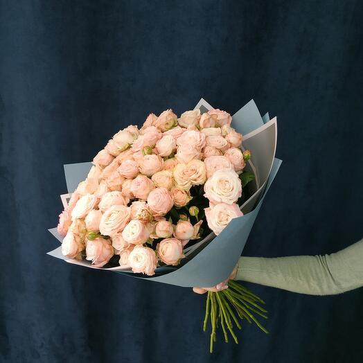 """Букет""""25 розовых кустовых роз"""""""