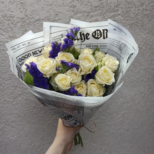 Стильный с розами и статицей