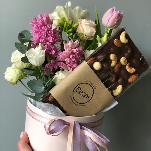 Цветы в коробке (подарочный 2)