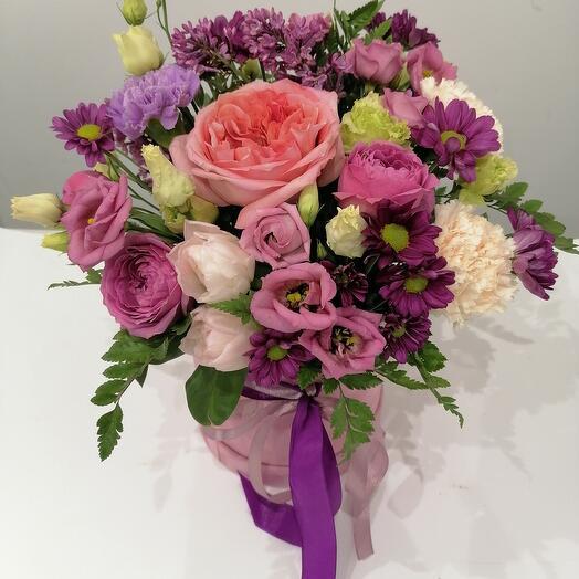 """Цветы в коробке""""счастливый май"""""""
