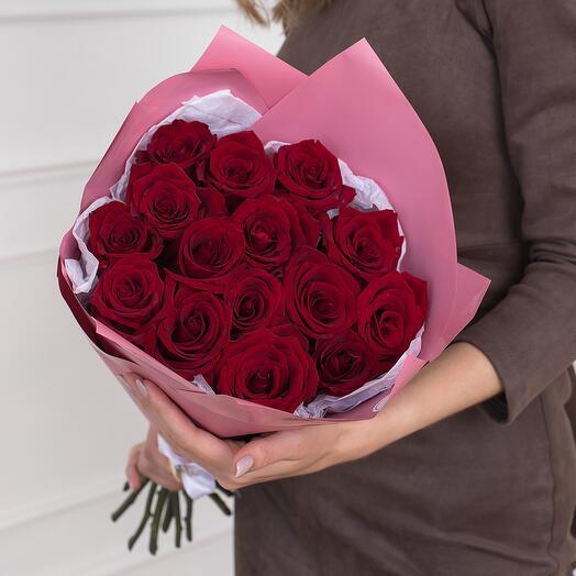 Букет из 15 роз Эквадор 60см