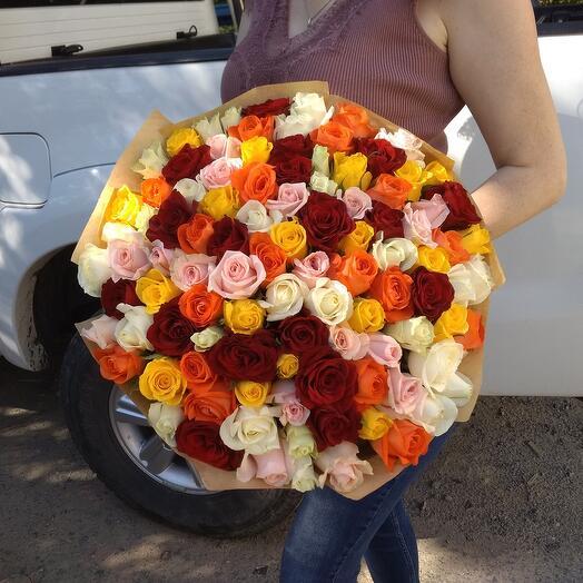 101 разноцветная роза Кения