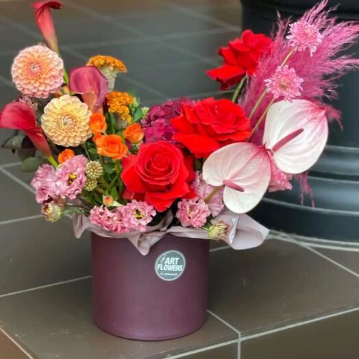 Цветы в коробке «Осень»
