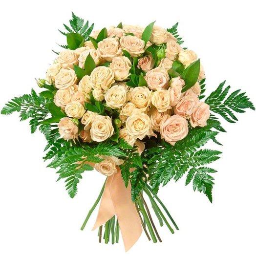Роза кустовая-15 шт 60 см: букеты цветов на заказ Flowwow