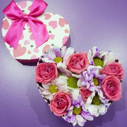 Нежное сердечко: букеты цветов на заказ Flowwow
