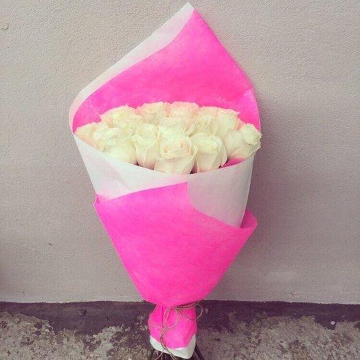 15  белоснежных роз: букеты цветов на заказ Flowwow