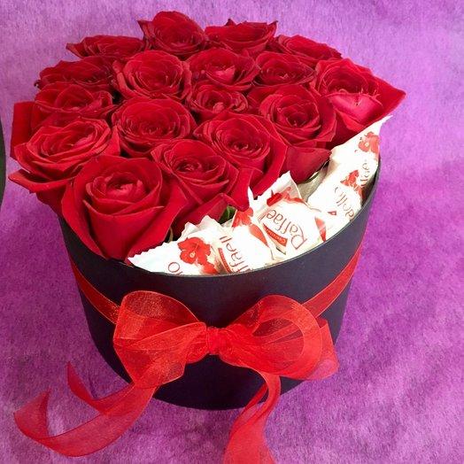 """Коробочка цветов с розами """"Для тебя"""""""