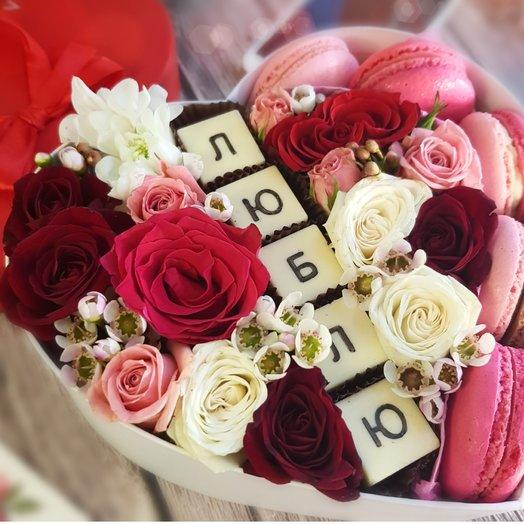 Моя Валентинка: букеты цветов на заказ Flowwow