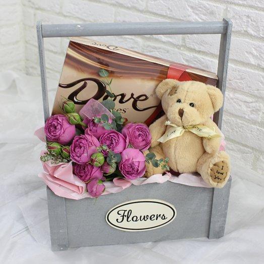 Сладкий мишка: букеты цветов на заказ Flowwow