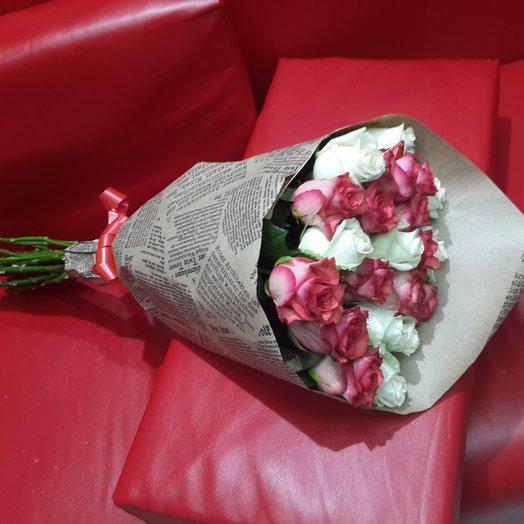 Букет микс из 21-ой розы