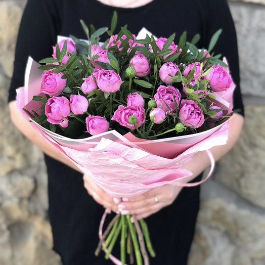 Милый букет кустовых роз Мисти Баблс 9 шт: букеты цветов на заказ Flowwow