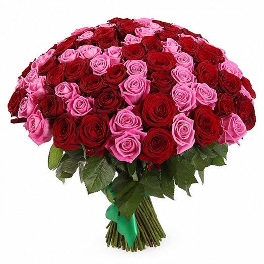 Альбина 101 роза: букеты цветов на заказ Flowwow