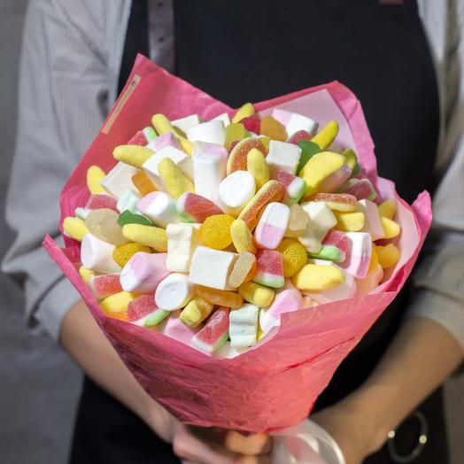 Сладкий букет из мармелада 38: букеты цветов на заказ Flowwow