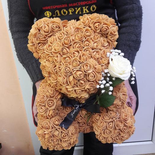 Шоколодный мишка: букеты цветов на заказ Flowwow