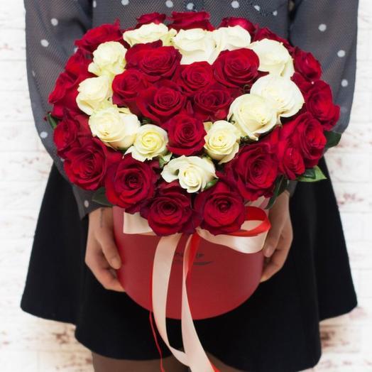 Шляпная коробка Мадлен: букеты цветов на заказ Flowwow