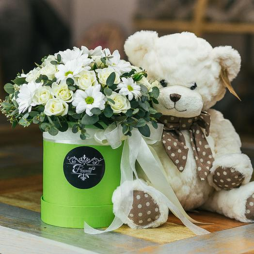 Плюшевое сердце: букеты цветов на заказ Flowwow