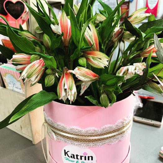 Альстроемерия в коробочке: букеты цветов на заказ Flowwow