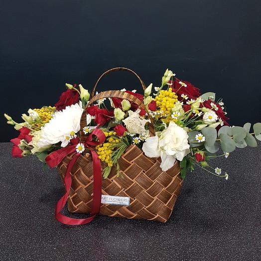 Сумка цветов: букеты цветов на заказ Flowwow