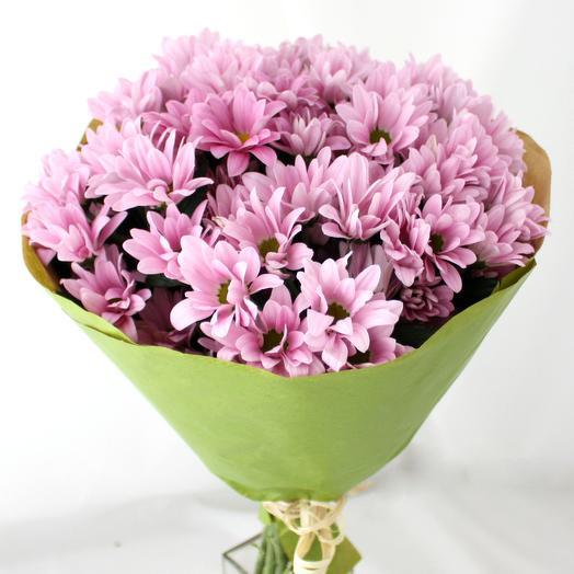 Букет розовых хризантем: букеты цветов на заказ Flowwow