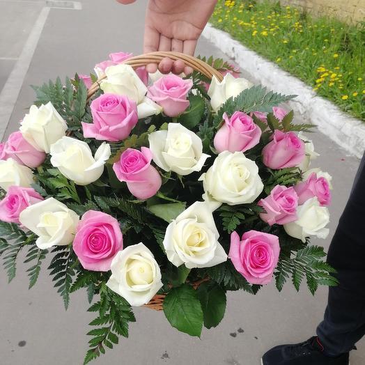 Розовый приют ( в корзине): букеты цветов на заказ Flowwow