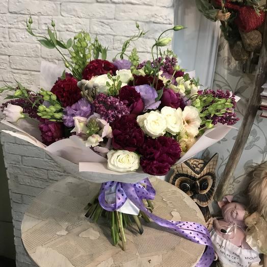 Огромный букет с пионами: букеты цветов на заказ Flowwow