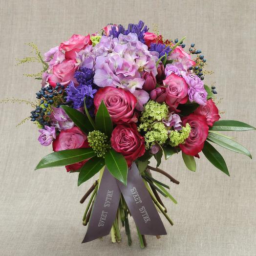 "Средний букет ""Афина"": букеты цветов на заказ Flowwow"
