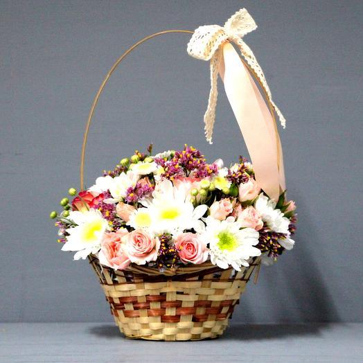 """Цветочная корзинка """"Летнее настроение"""": букеты цветов на заказ Flowwow"""