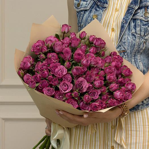 """Букет из """"Кустовых роз"""": букеты цветов на заказ Flowwow"""