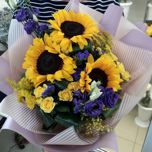 Солнечный букет Большой: букеты цветов на заказ Flowwow