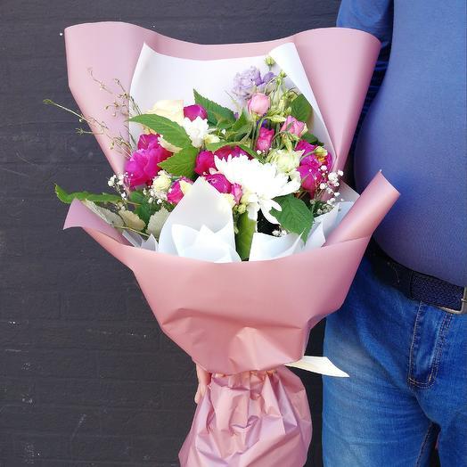 Малиновая сказка🍓: букеты цветов на заказ Flowwow
