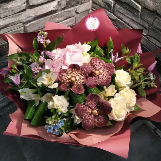 "Букет с экзотикой ""Паттайя"": букеты цветов на заказ Flowwow"