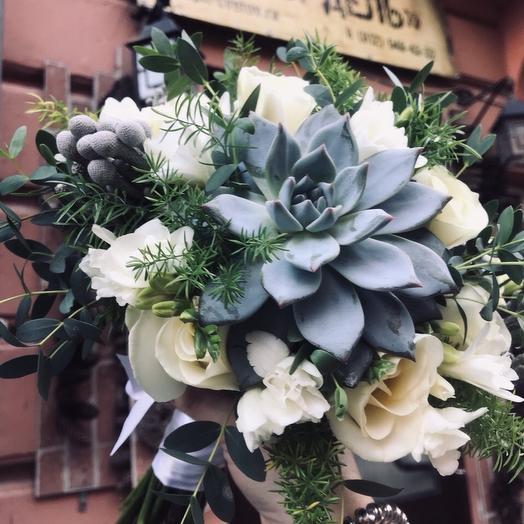 Букет невесты из суккулентов: букеты цветов на заказ Flowwow