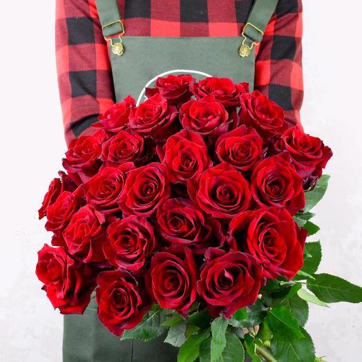 Роза Эквадор 25шт: букеты цветов на заказ Flowwow