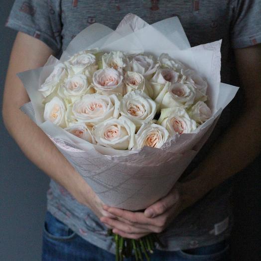Букет из ароматных роз Вайт О Хара