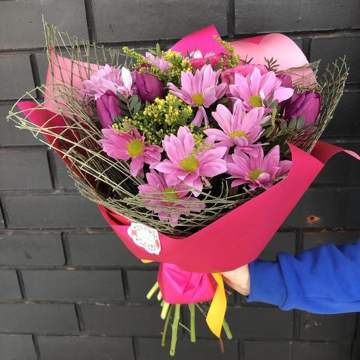 Гармоничный аккорд: букеты цветов на заказ Flowwow