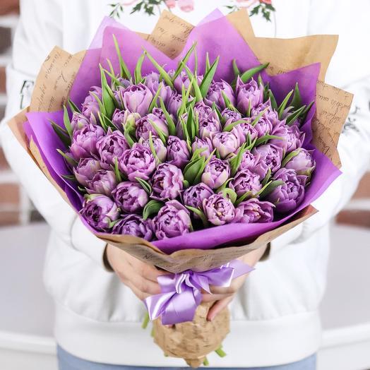 Букет из 49 пионовидного тюльпана. N721