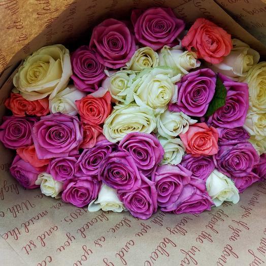 Роза голландская 60 см: букеты цветов на заказ Flowwow